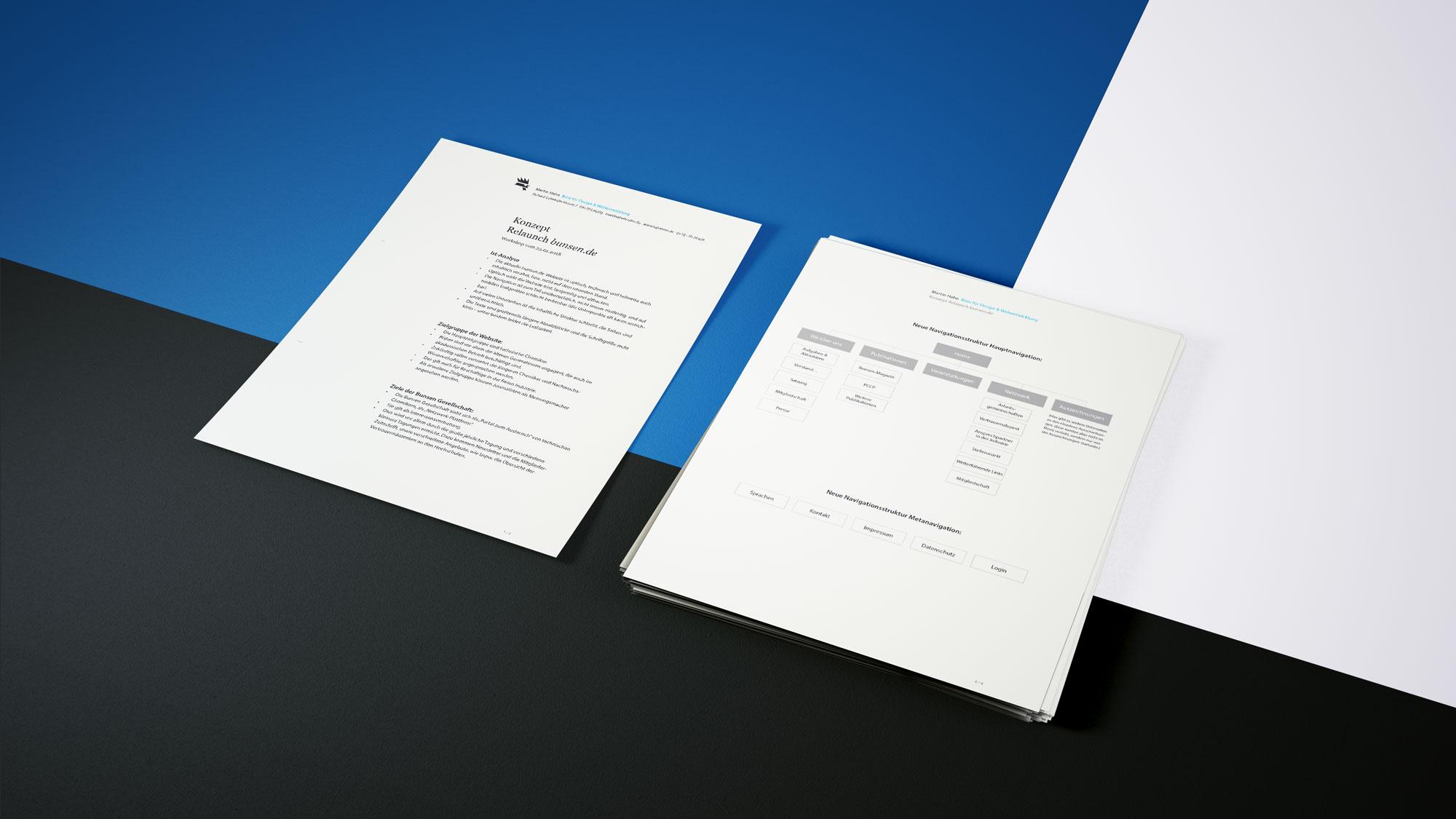 Webdesign-Konzept Frankfurt bunsen Website