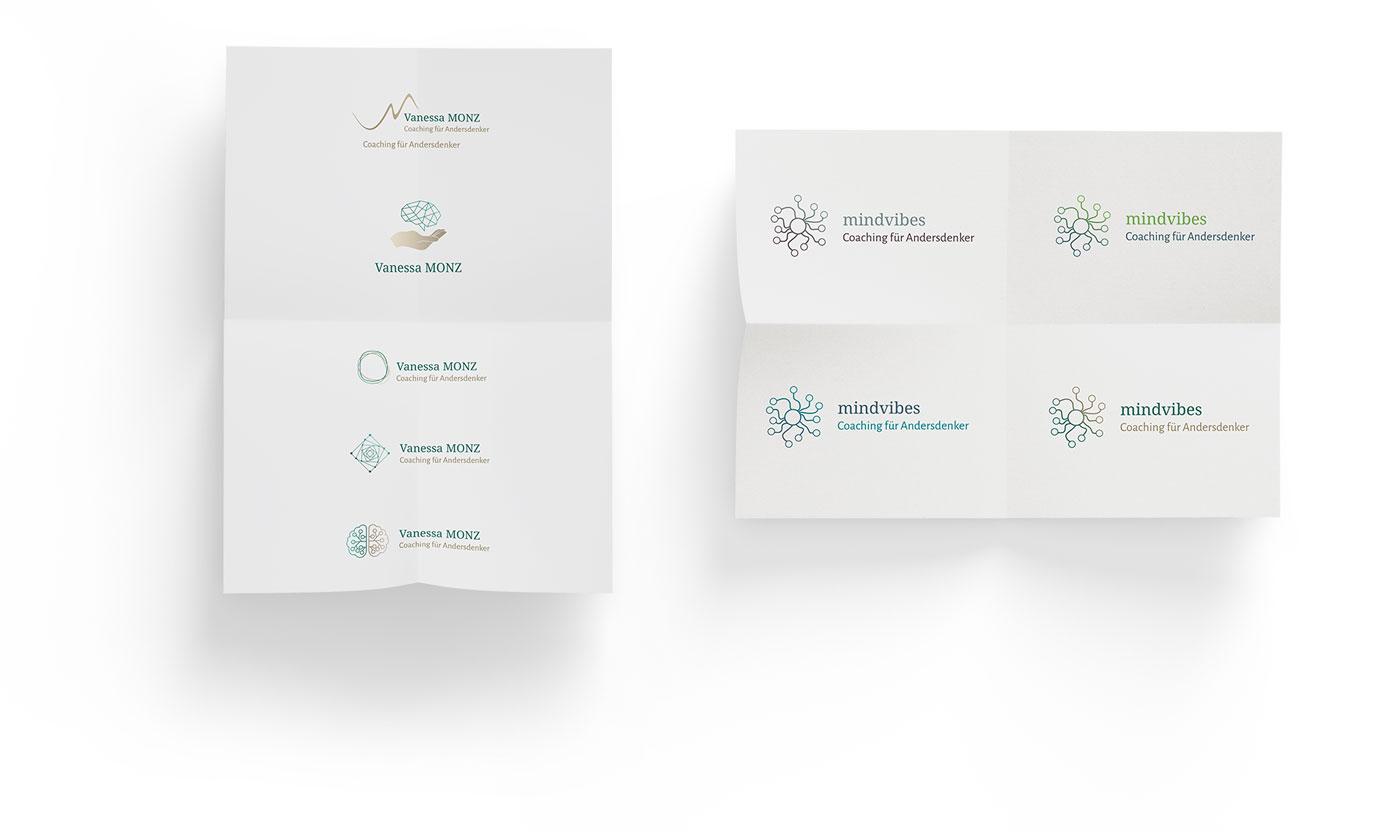 Logo-Design-Entwürfe Coach Frankfurt
