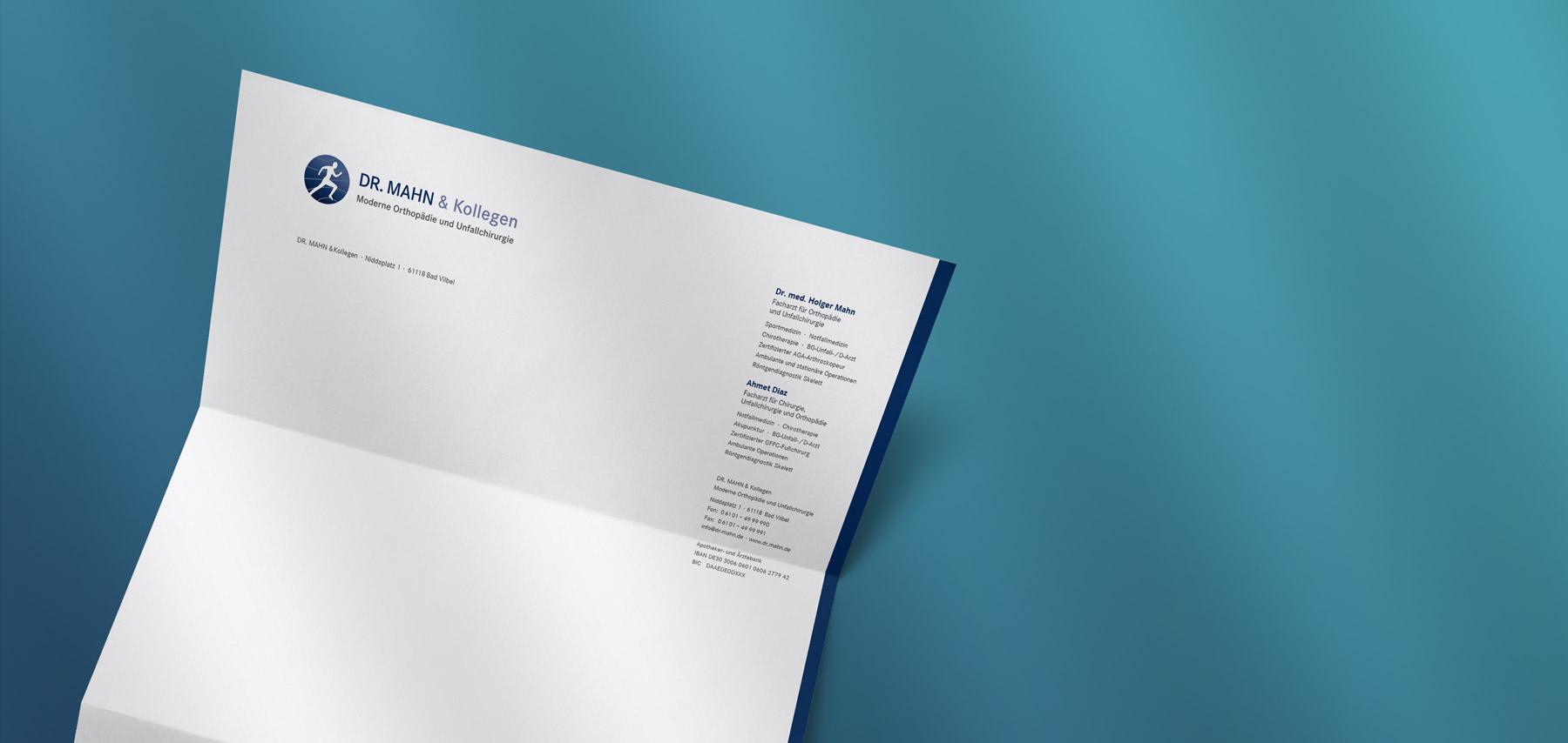 Briefbogen für einen Orthopäden aus Bad Vilbel.