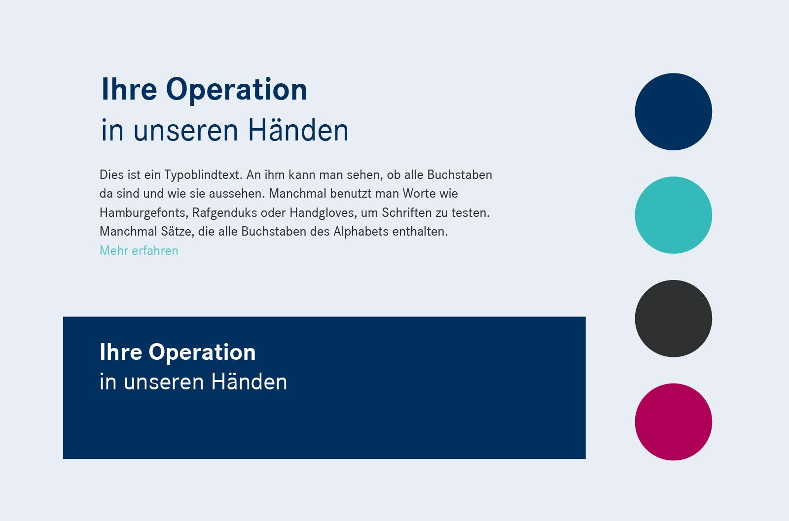 Corporate Design Styleguide für einen Orthopäden aus Frankfurt, Bad Vilbe