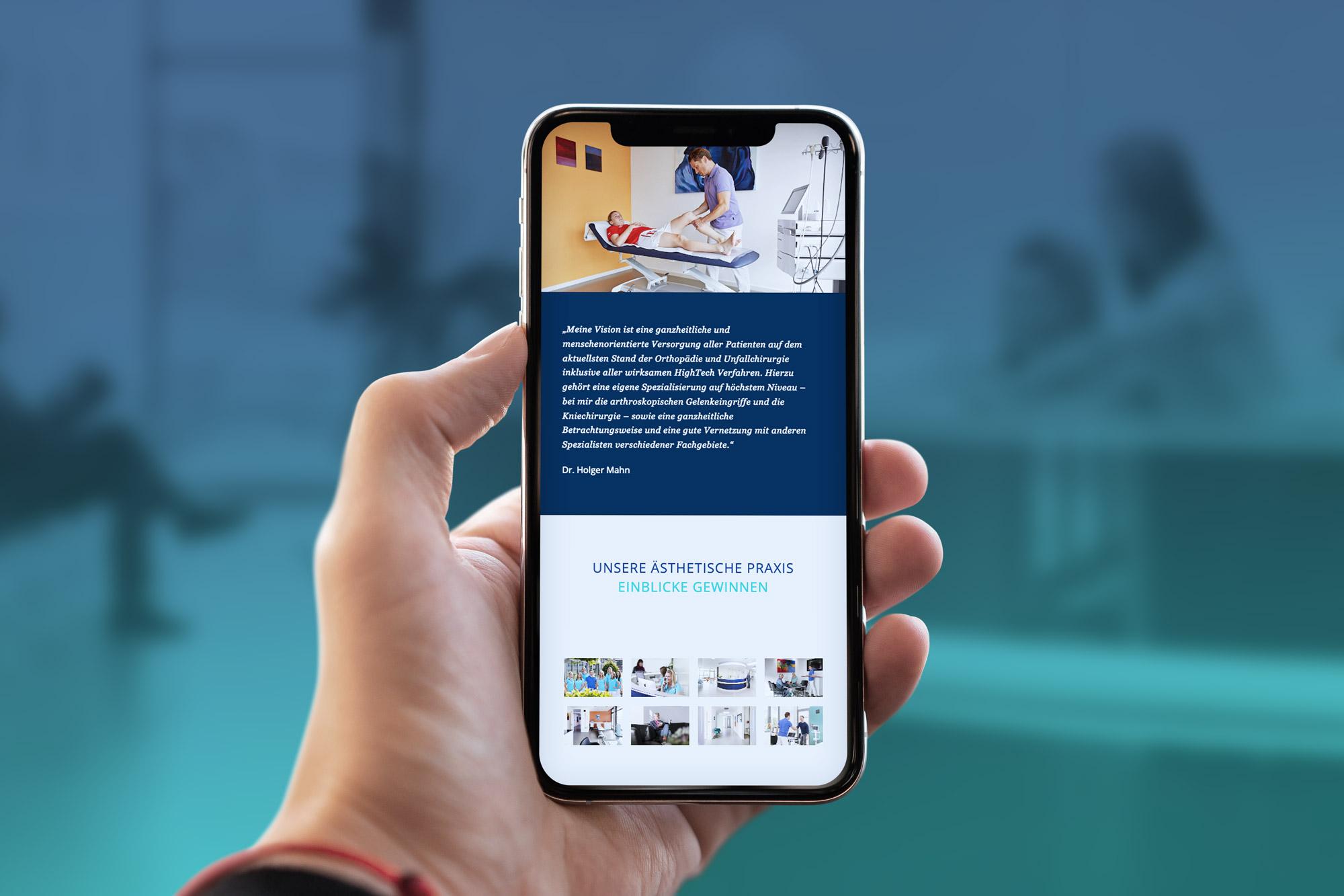 Responsive Webdesign für einen Orthopäden aus Bad Vilbel bei Frankfurt.