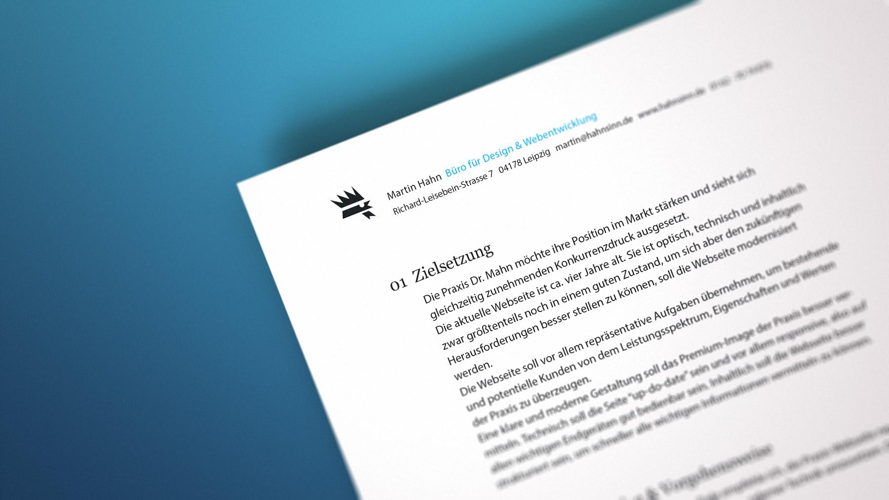 Website-Konzept für einen Orthopäden aus Bad Vilbel.