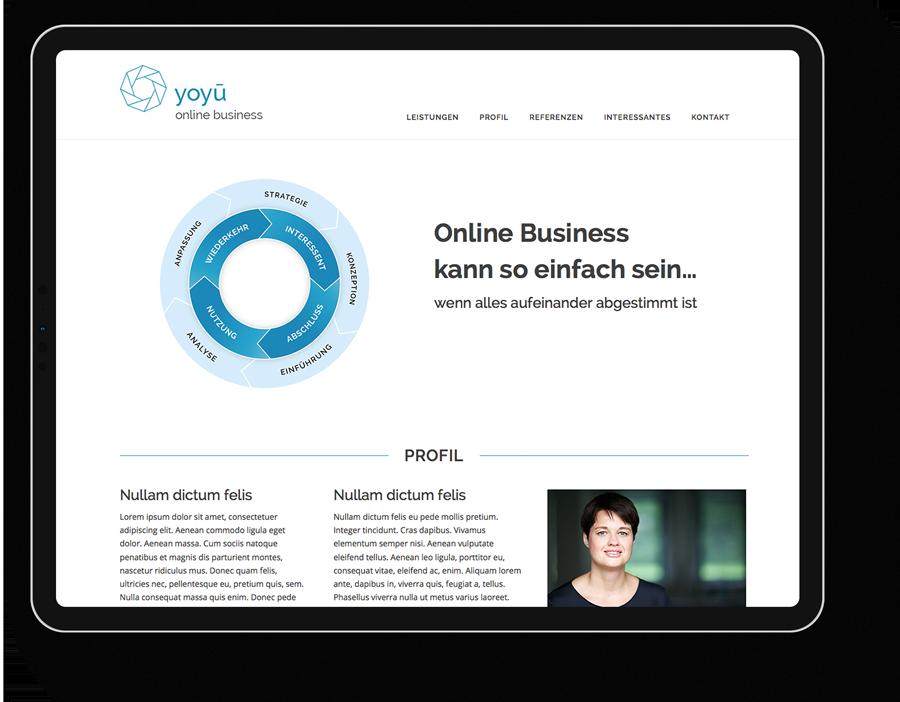 Responsive Webdesign für einen Online-Business-Coach aus Frankfurt