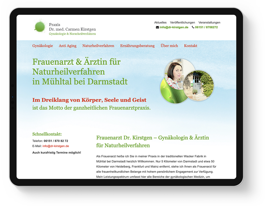 Responsive Webdesign Frauenarzt bei Darmstadt