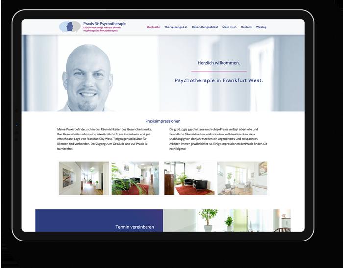 Responsive Webdesign Psychotherapeut Frankfurt