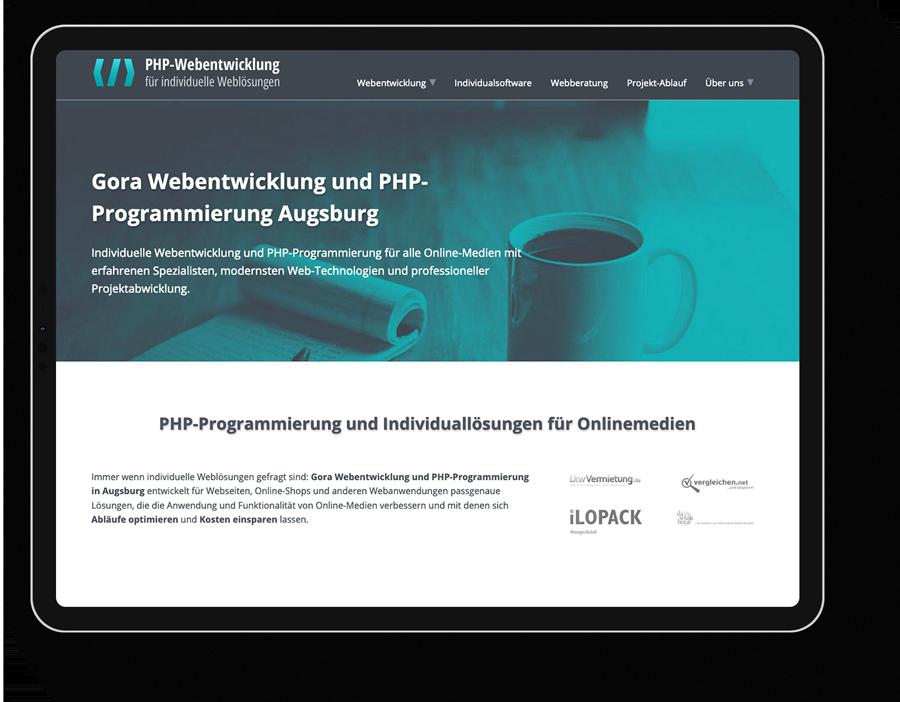 Responsive Webdesign für einen PHP-Webprogrammierung-IT aus Augsburg