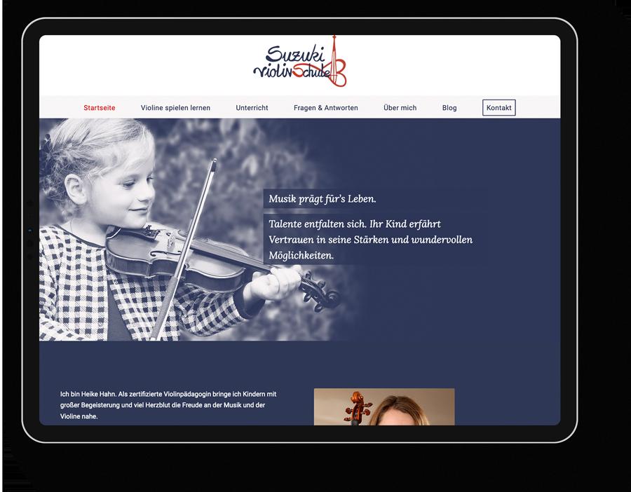 Responsive Webdesign für einen Musik-Coach aus Metzingen