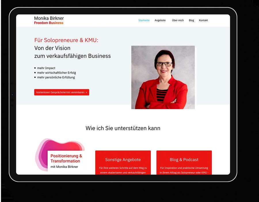 Responsive Webdesign für einen Coach aus Offenbach