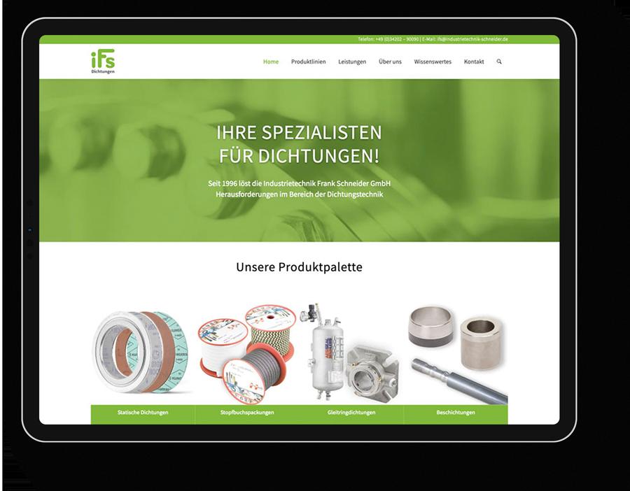 Corporate Website für einen Mittelständler