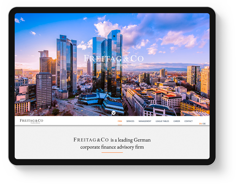 Responsive Webdesign für eine Investmentbank aus Frankfurt