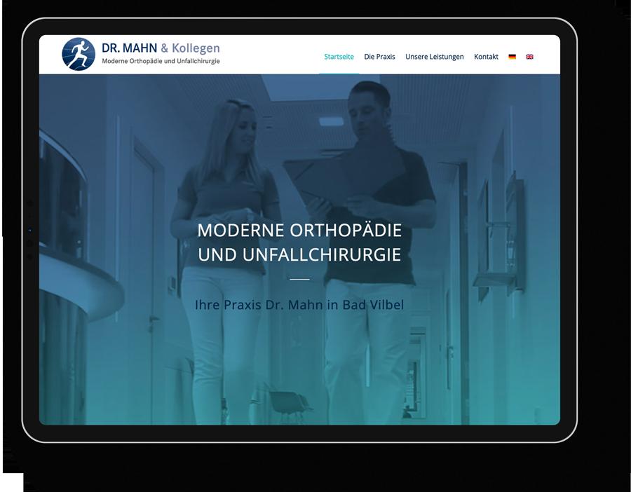 Responsive Webdesign für einen Orthopäde aus Bad Vilbel bei Frankfurt