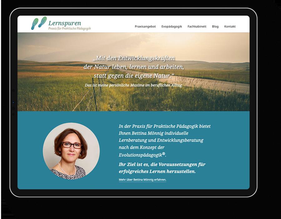 Responsive Webdesign für eine Pädagogin aus Leipzig