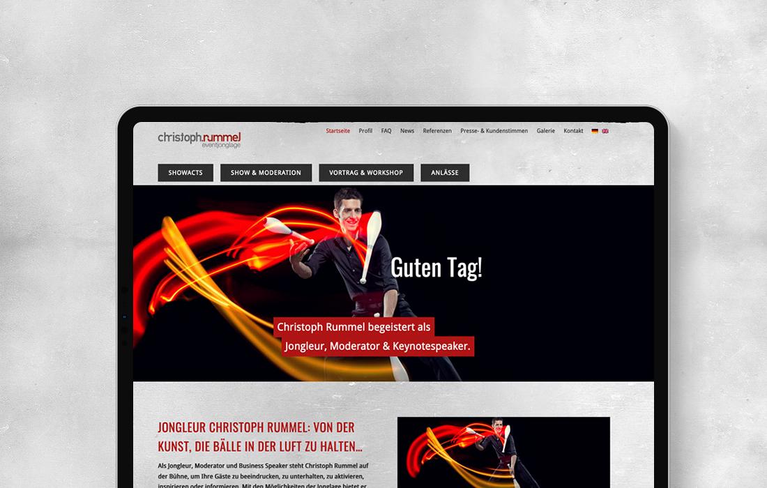 Responsive Webdesign für einen Selbständigen aus Köln