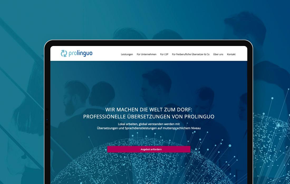 Responsive Webdesign für eine Übersetzungsdienstleister aus Hannover