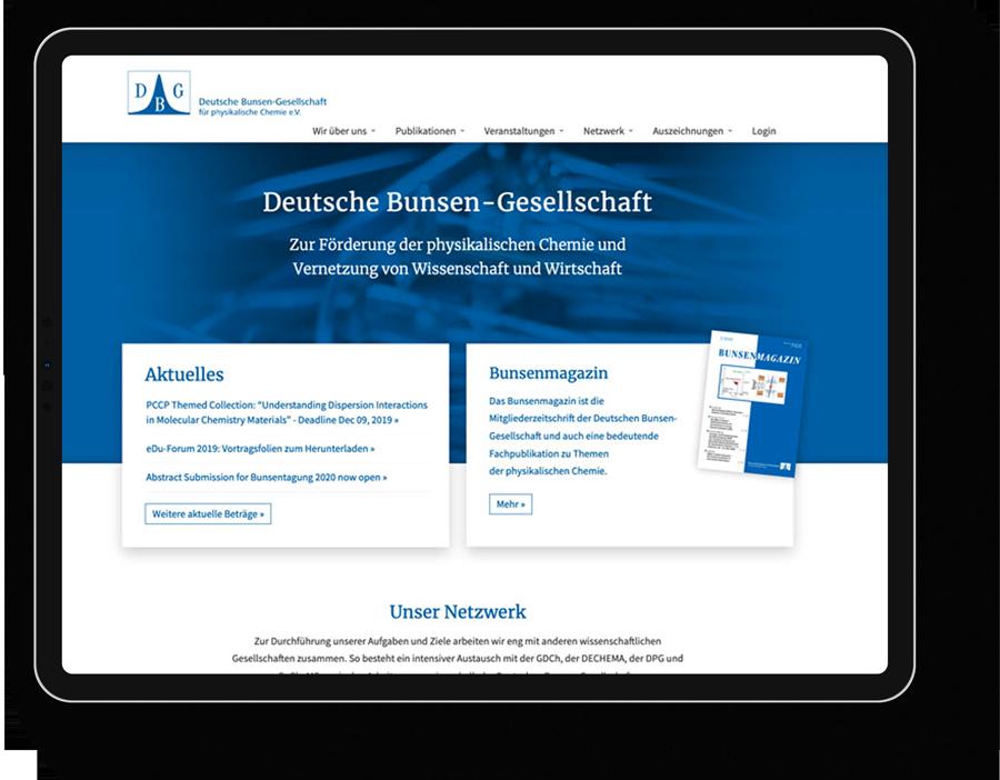 Responsive Webdesign für einen Wissenschaftlicher Verein aus Frankfurt