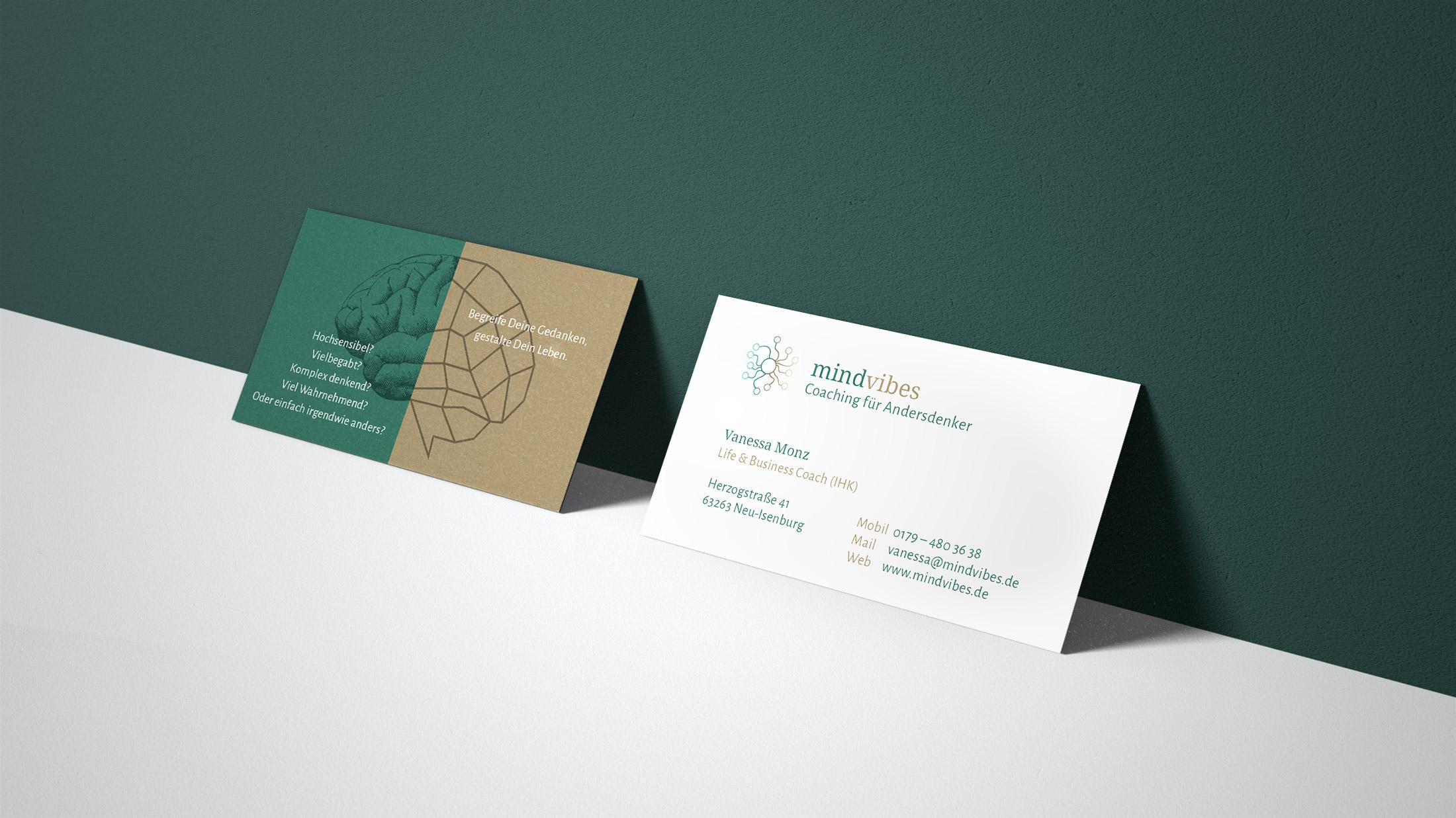 Visitenkarte für einen Coach aus Frankfurt