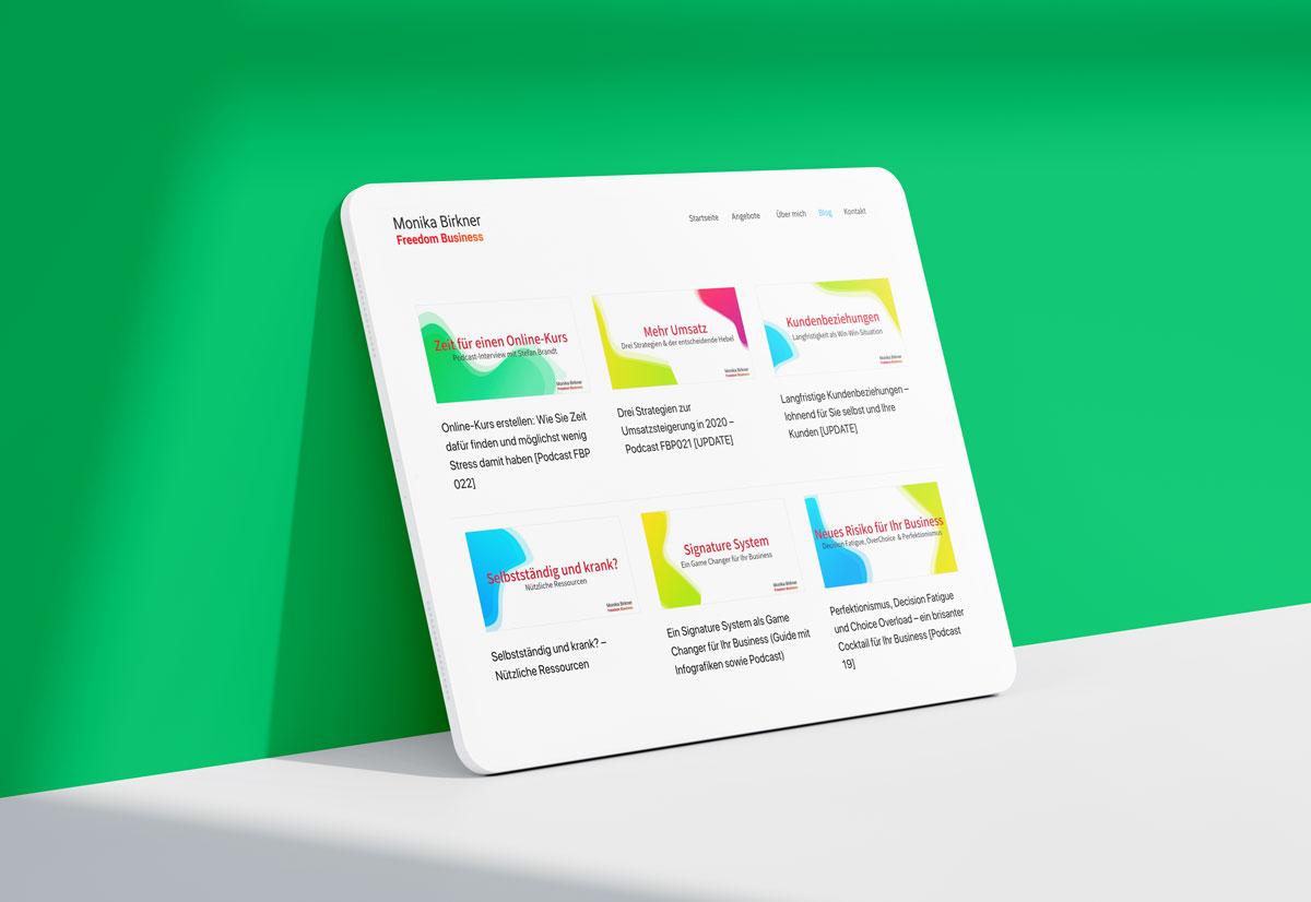 Webseite Webdesign für einen Coach aus Frankfurt, Rhein-Main-Gebiet