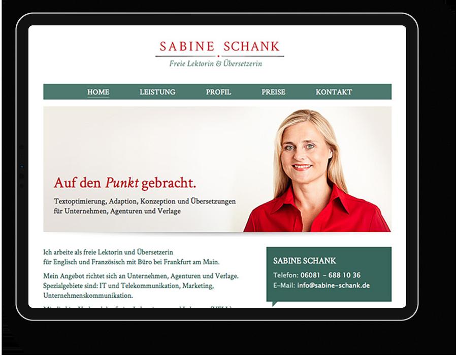 Website für eine Lektorin/Übersetzerin aus dem Taunus.