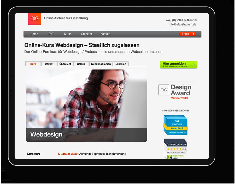 Online Kurs Webdesign