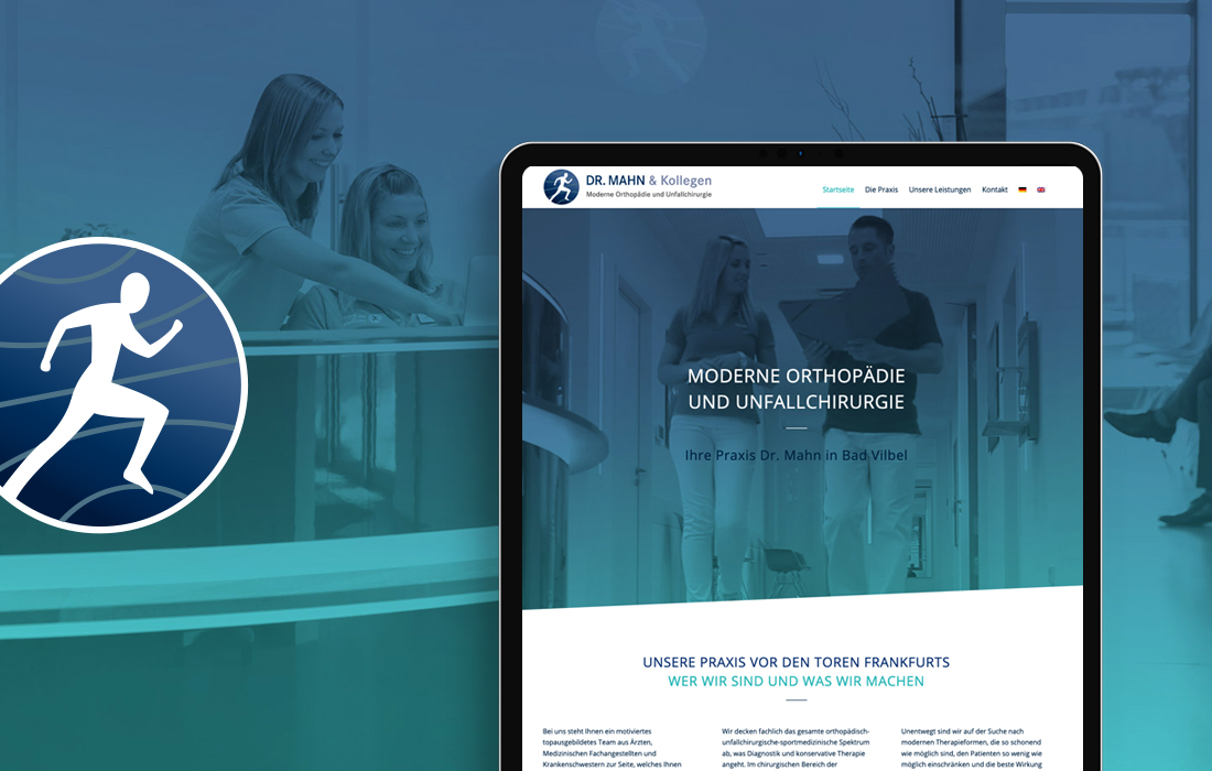 Responsive Webdesign und Corporate Design Orthopäde aus Bad Vilbel bei Frankfurt