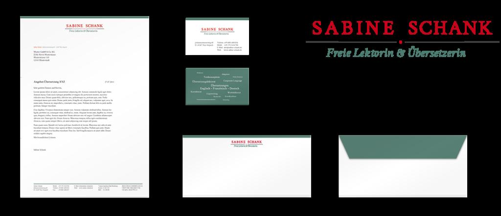 Corporate Design und Logodesign für eine Lektorin/Übersetzerin aus dem Taunus.