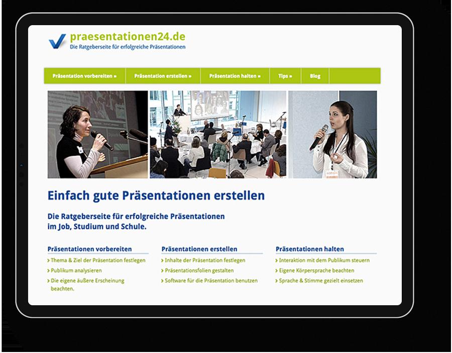 Webportal Präesentationen