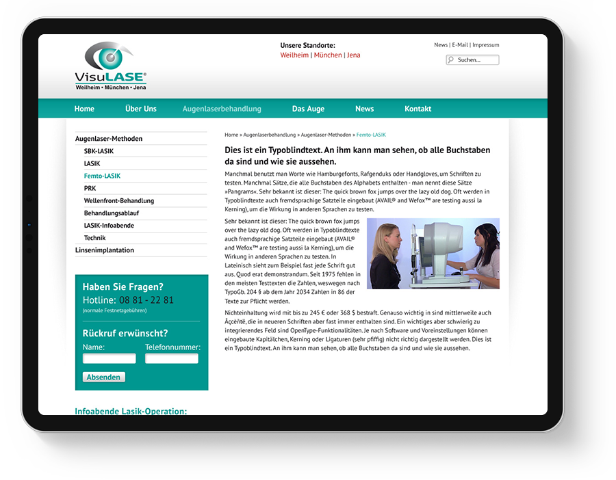 Website Augenarzt München