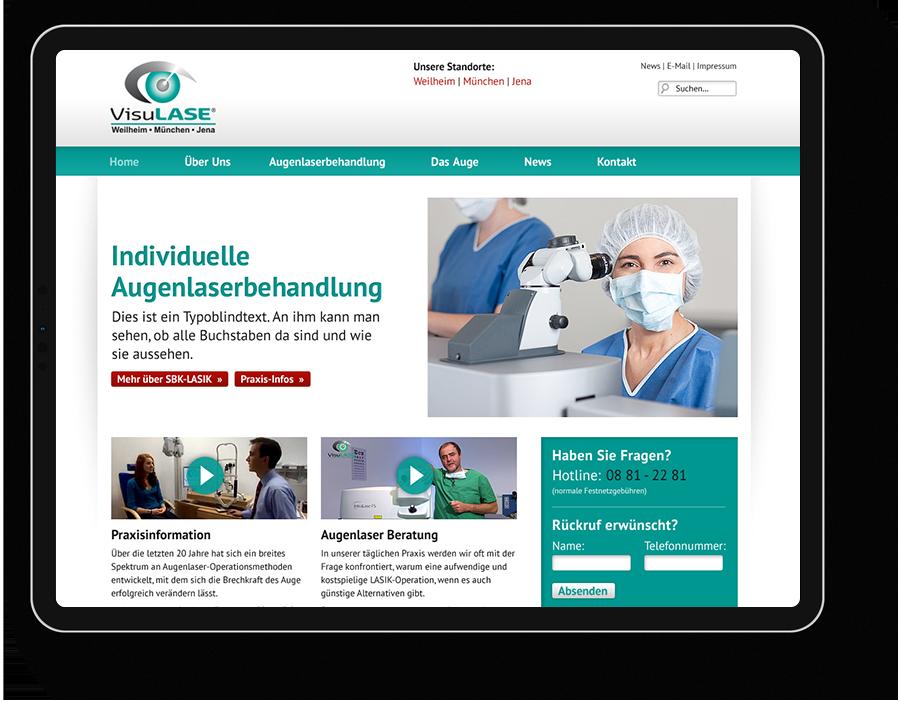 WordPress Website Augenarzt München