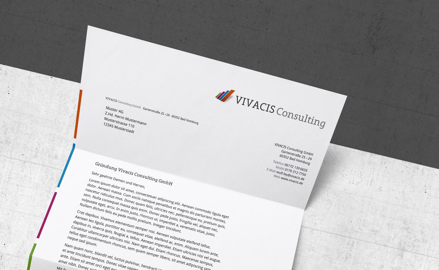 Briefbogen und Corporate Design für eine Unternehmensberatung aus Bad Homburg bei Frankfurt.