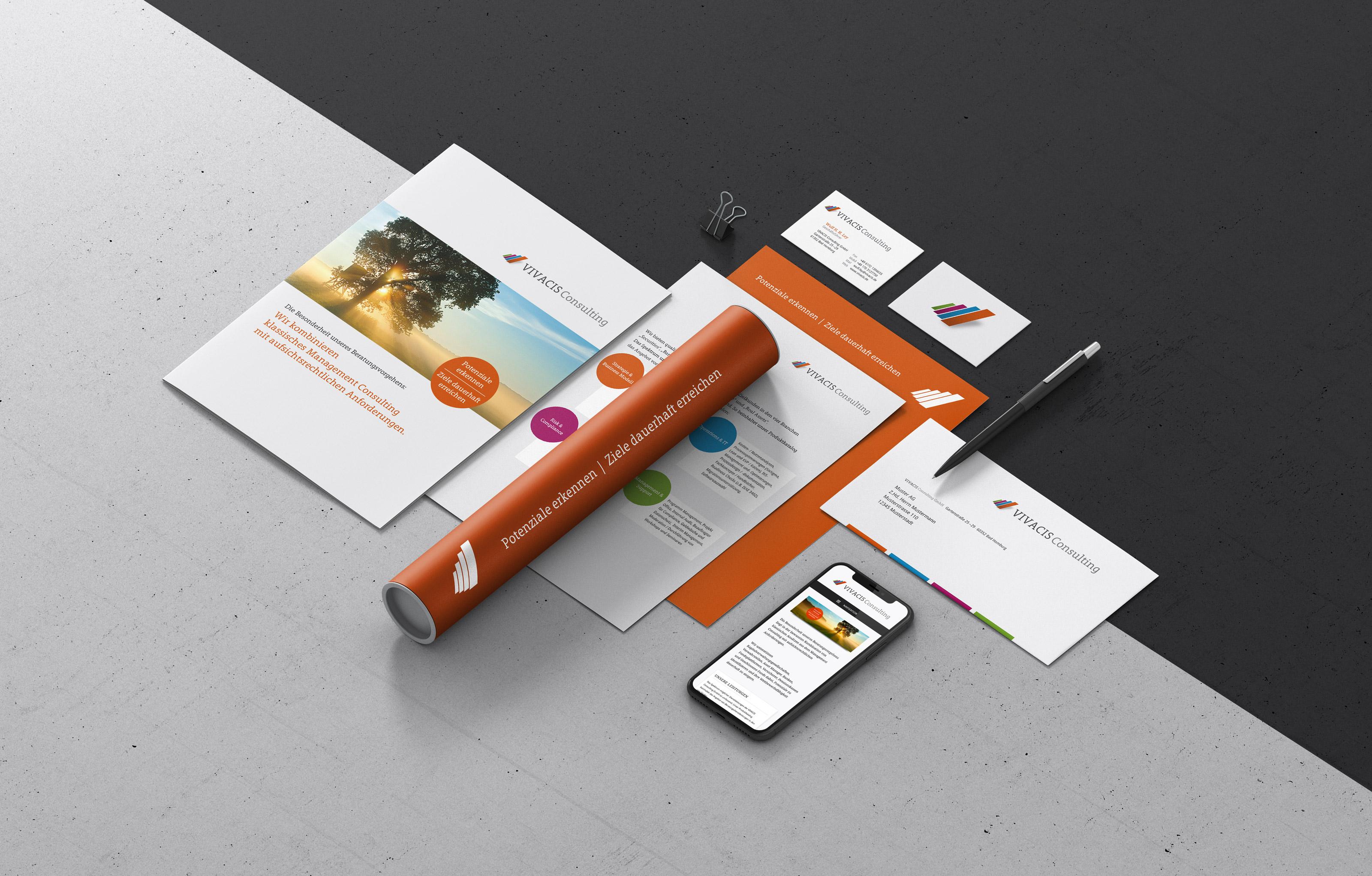 Corporate Design und Branding für eine Bad Homburger Unternehmensberatung.