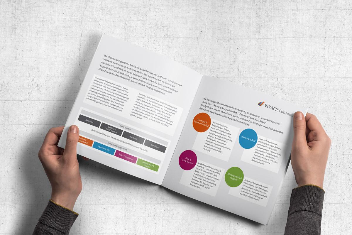 Print-Broschüre für eine Bad Homburger Unternehmensberatung.