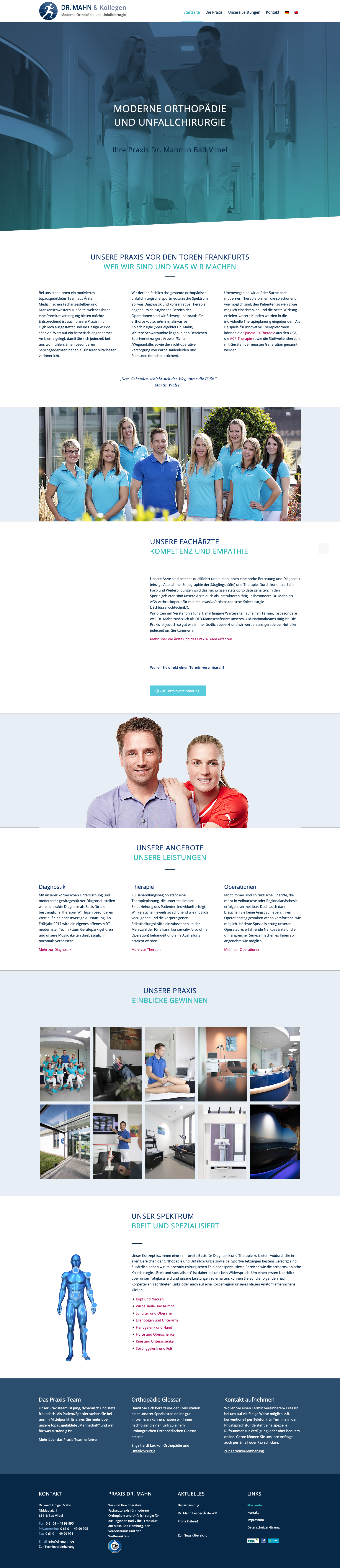 Responsive Webdesign – Orthopäde, Bad Vilbel