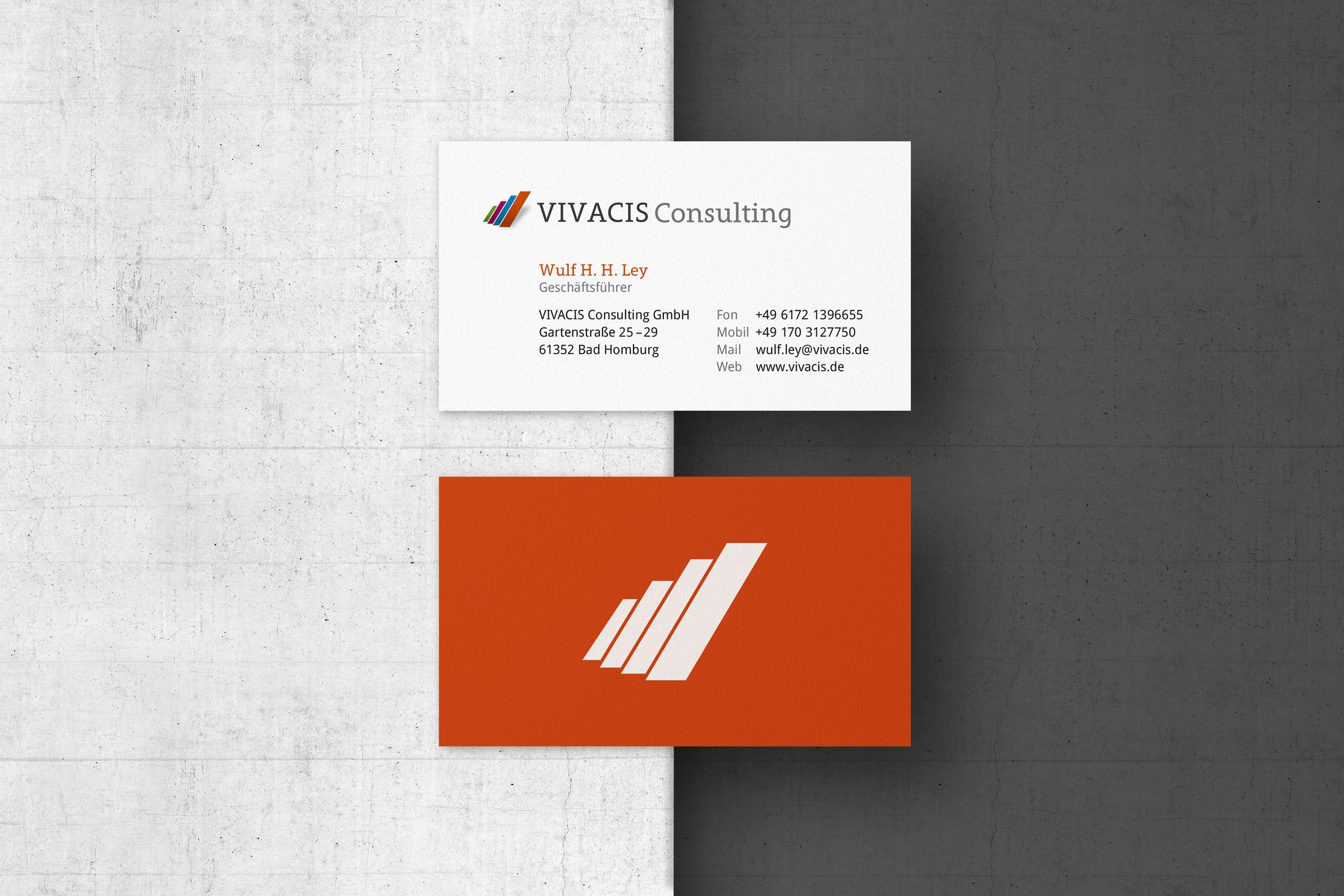 Visitenkarten Design für eine Unternehmensberatung aus Bad Homburg.