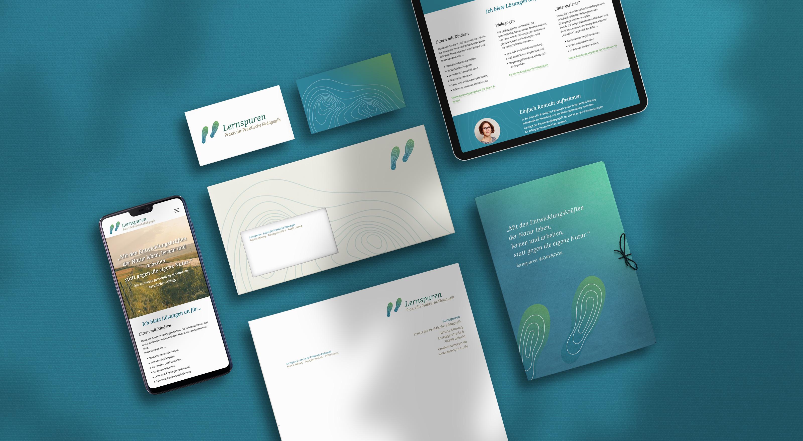 Branding, Corporate Design und Webdesign einer selbständigen Pädagogin aus Leipzig.