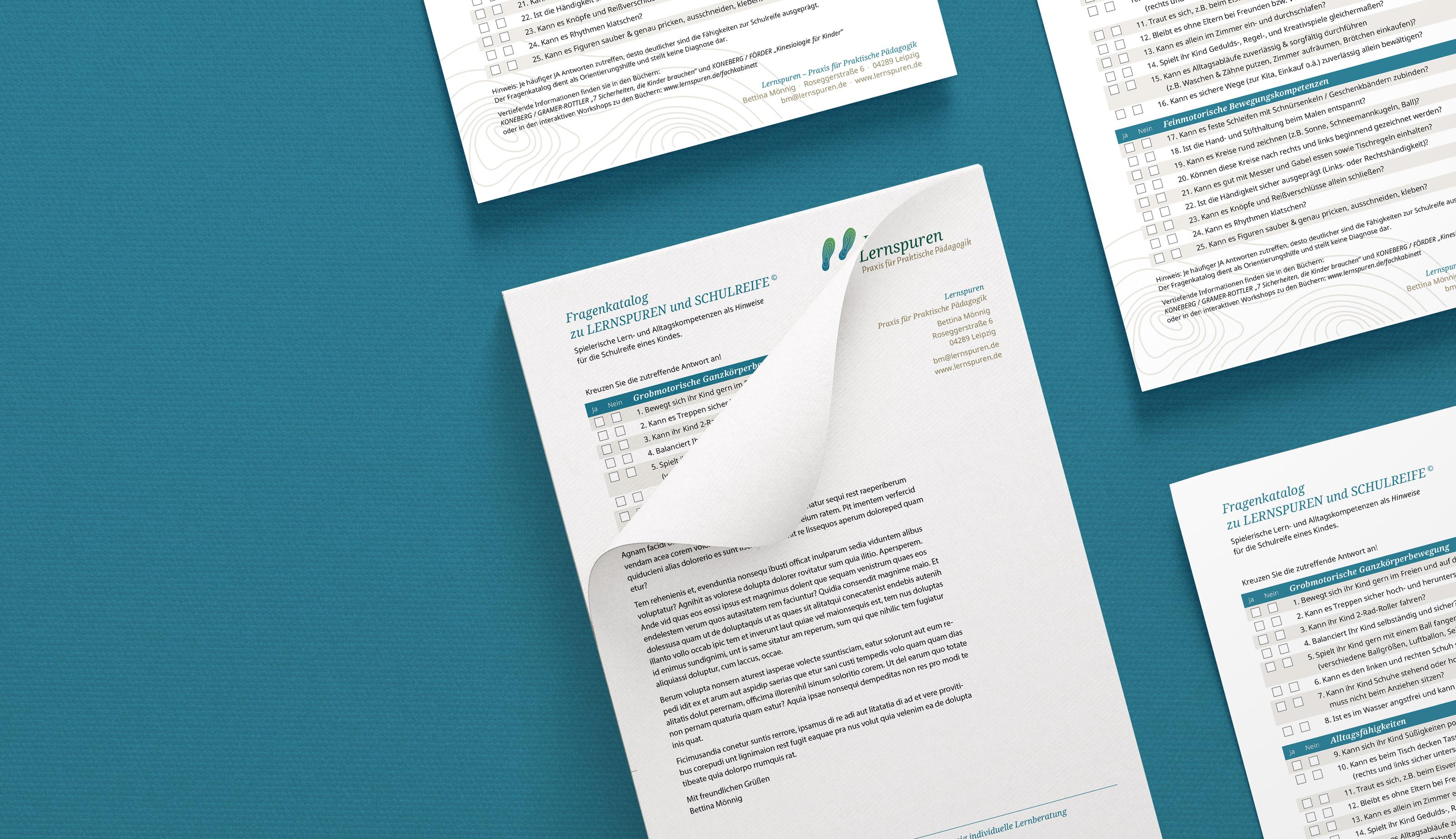 Briefbogen und Design der Geschäftsaustattung für eine Pädagogin aus Leipzig