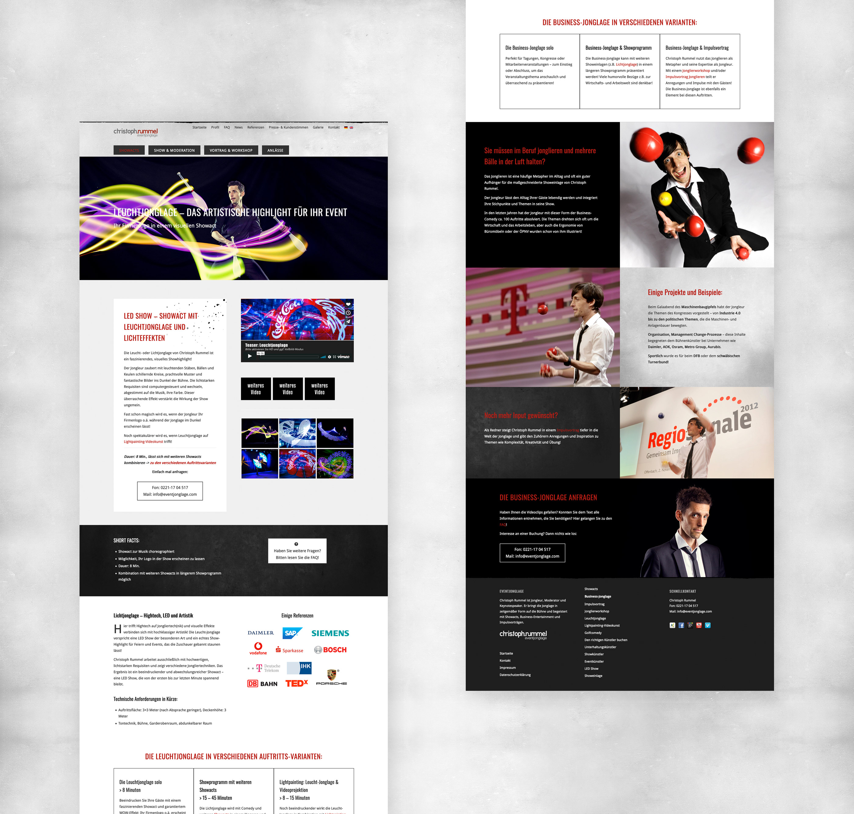 Webdesign mit WordPress für eine Image-Website eines Selbständigen aus Köln.