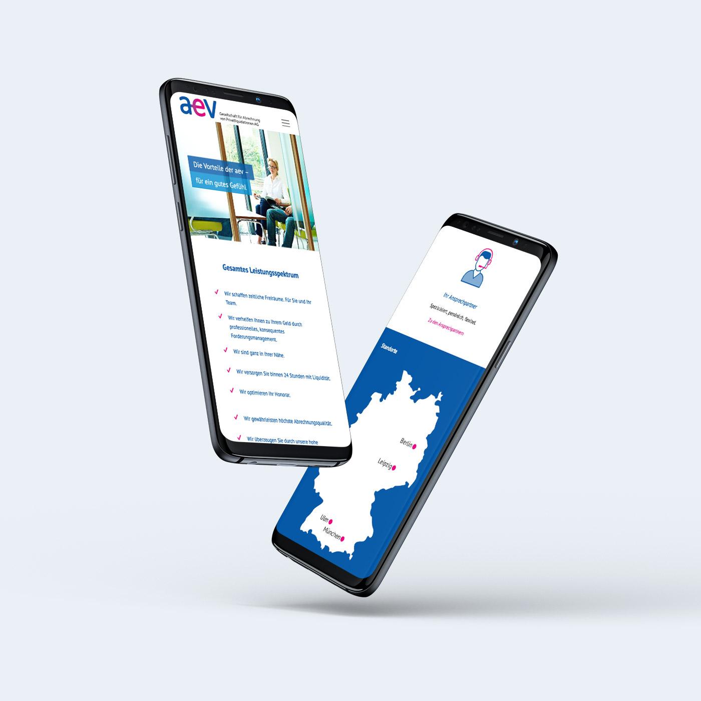 Responsive Webdesign einer Image-Website aus Leipzig