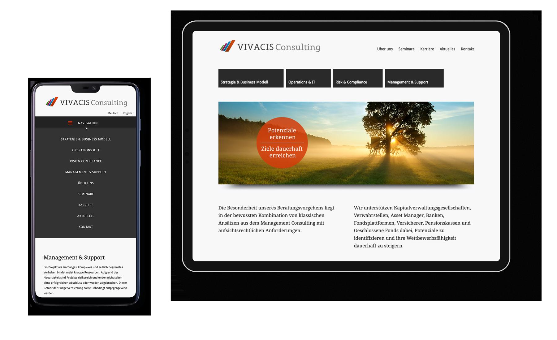 Responsive Webdesign für eine Unternehmensberatung aus Bad Homburg..