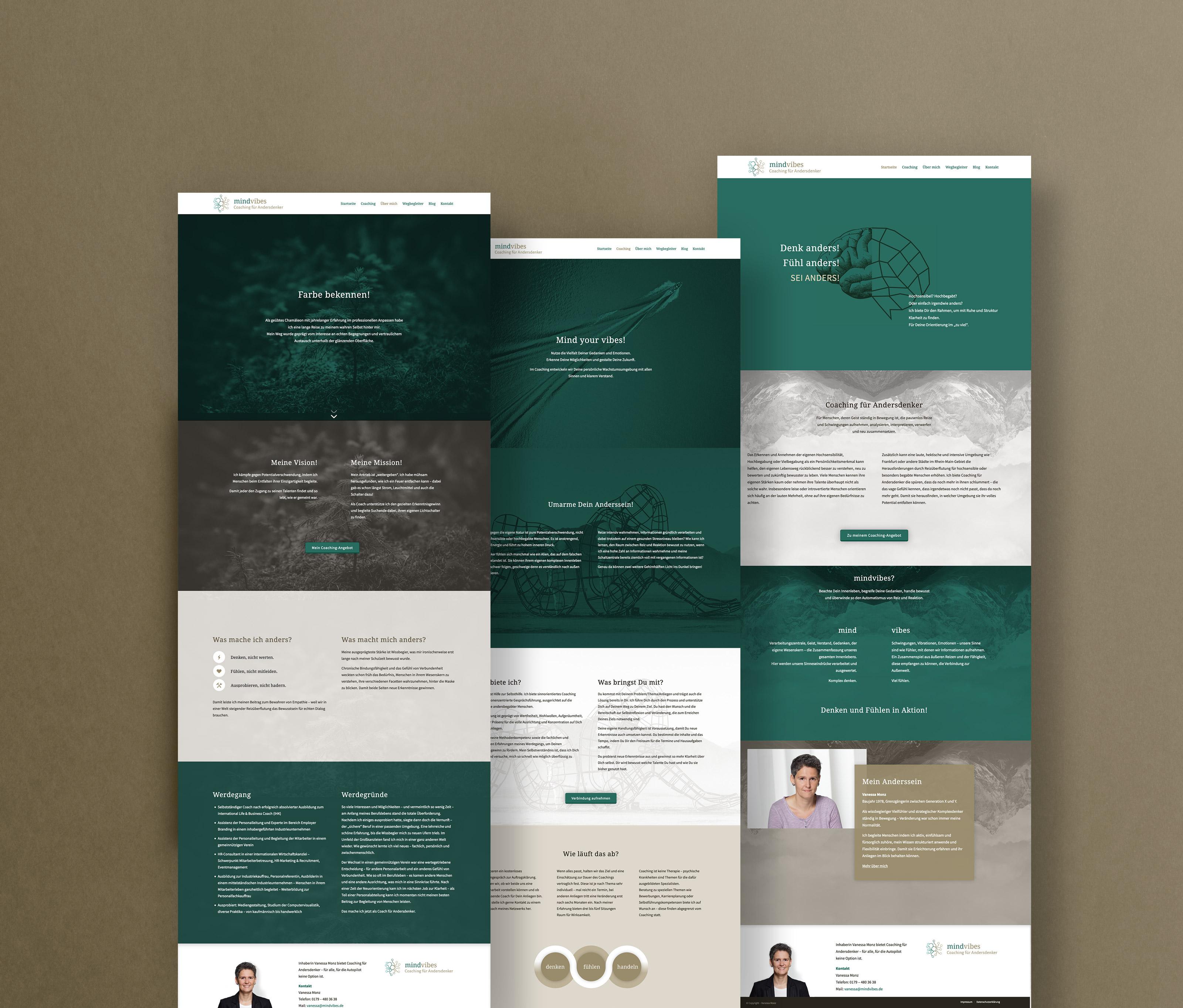 Responsive Webdesign mit WordPress für einen Coach aus Frankfurt.