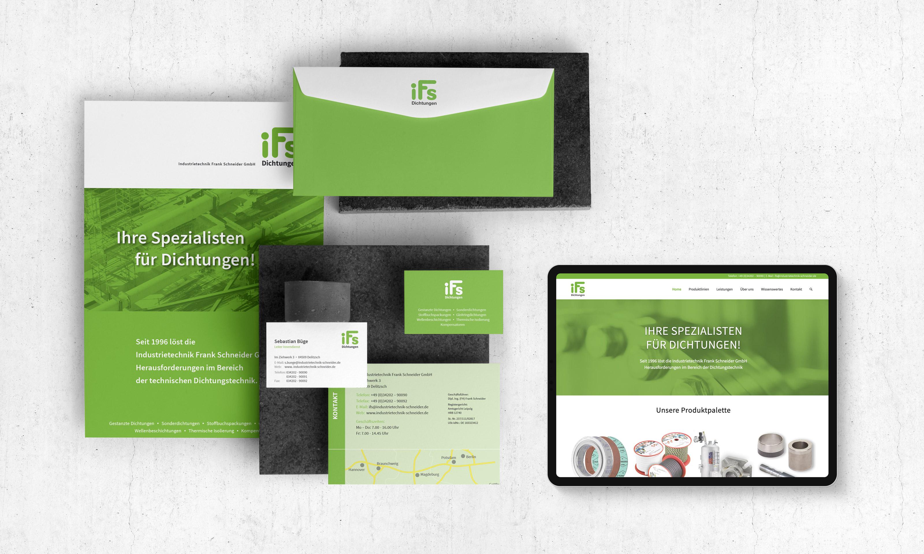 Responsive Webdesign für einen Mittelständler aus Leipzig, Sachsen.