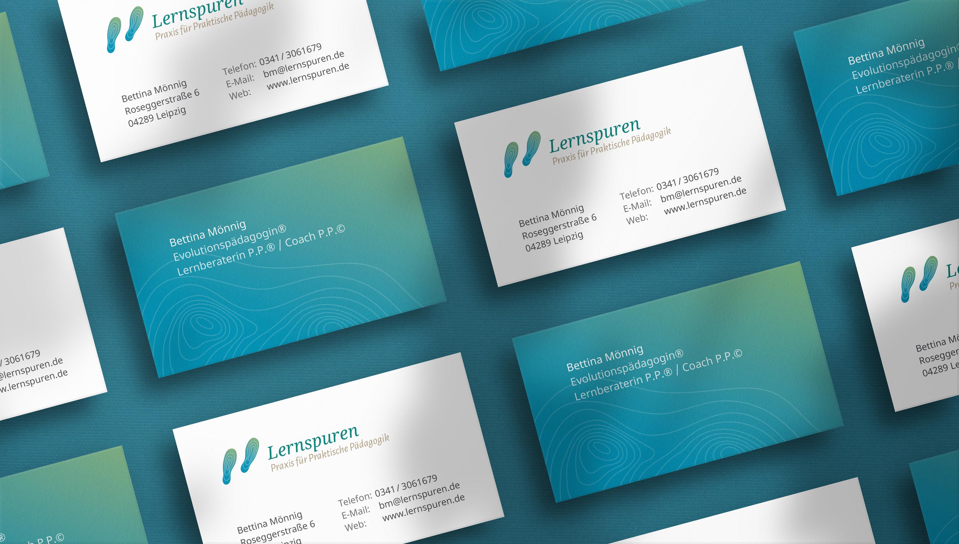 Visitenkarten-Design für eine Pädagogin aus Leipzig