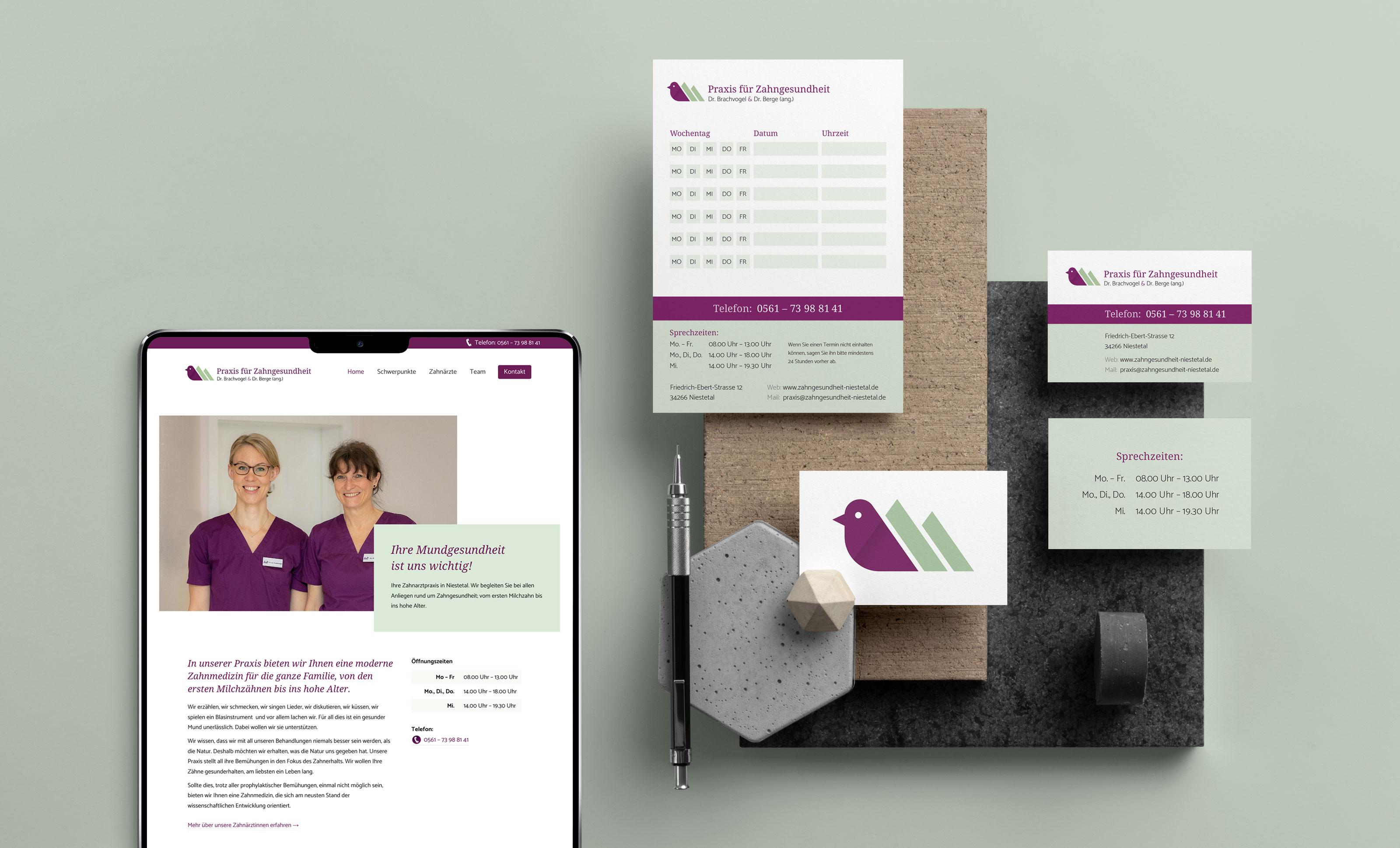 Responsive Webdesign & Branding für eine Zahnarztpraxis bei Kassel