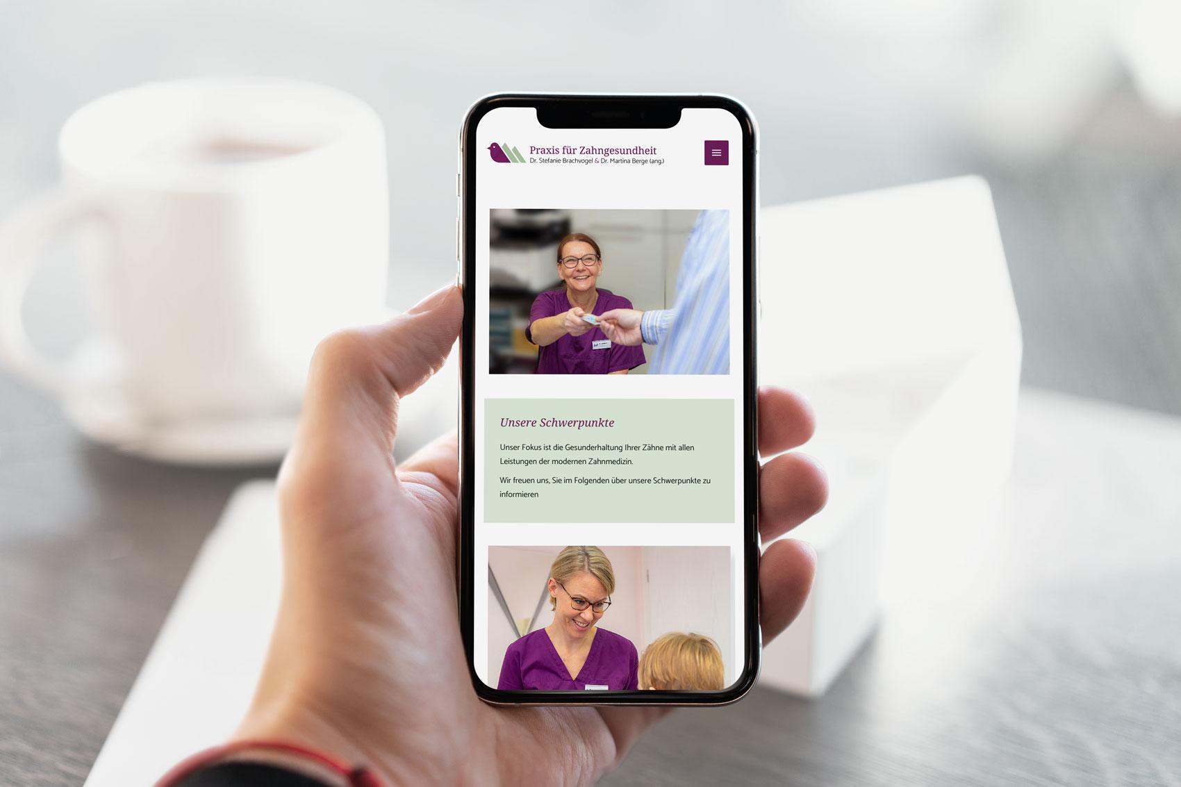 Responsive Webdesign für eine Zahnarztpraxis bei Kassel