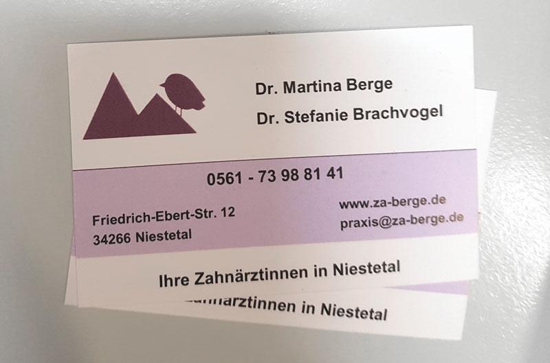alte Visitenkarte & Logo Zahnarzt Kassel